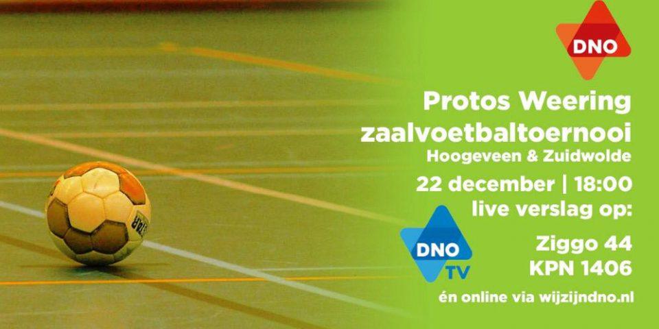 Voorronde Protos Weering Zaalvoetbaltoernooi live te volgen op DNO StreekTV